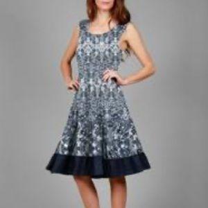 Simply Aster blue & white print mini dress size 3X